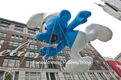 Macys Thanksgiving Day Parade Smurf Balloon