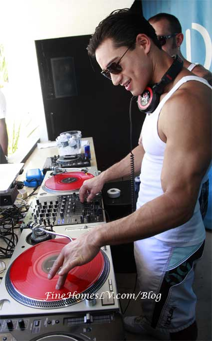 Mario Lopez at DJ Booth