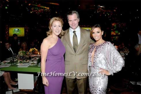 Heather and Jim Murren and Eva Longoria