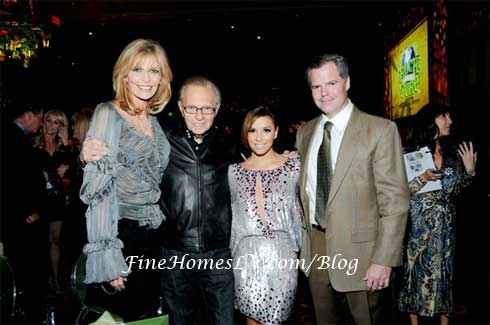 Larry King, Eva Longoria and Jim Murren
