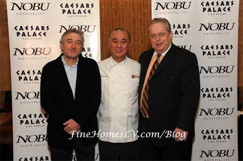 Robert De Niro, Nobu Matsuhisa and Tom Jenkin
