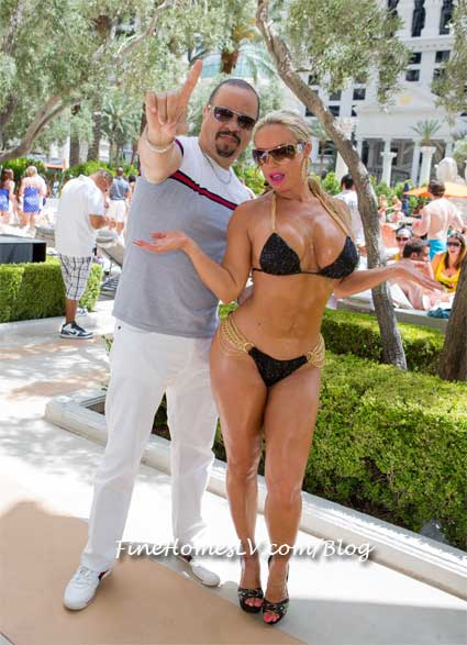 Ice T and Coco at Venus Pool