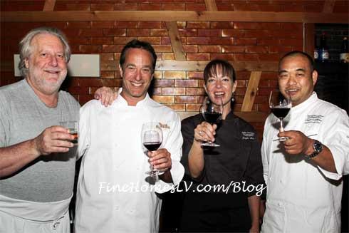 Chefs Bromberg, Jonathan Waxman, Jennifer Puccio and Clayton Arakawa