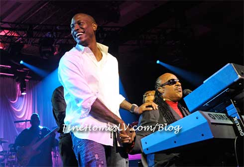 Tyrese Gibson and Stevie Wonder