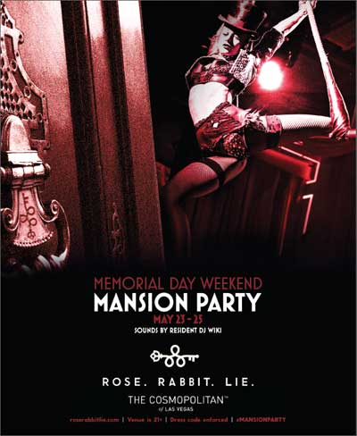 Memorial Day Weekend Mansion Party At Rose Rabbit Lit