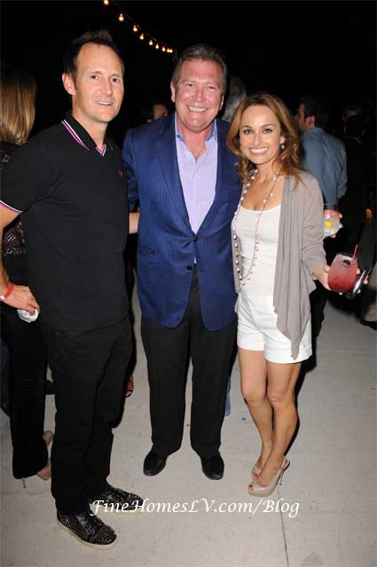 Todd Thompson, John Unwin and Giada de Laurentiis