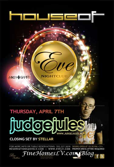 DJ Judge Jules at Eve Nightclub