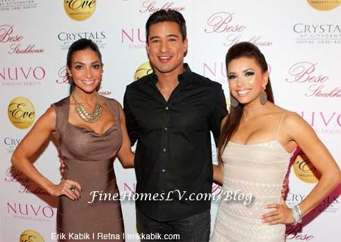 Courtney Mazza, Mario Lopez and Eva Longoria