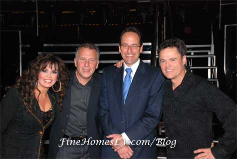 Donny Osmond, Marie Osmond and Paul Reiser