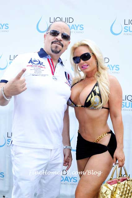 Coco and ice T at Liquid Sundays