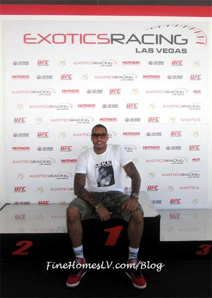 Carmelo Anthony at Exotics Racing Las Vegas