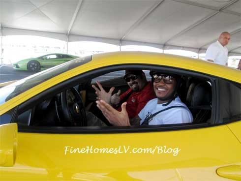 Carmelo Anthony at Exotics Racing