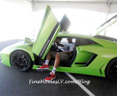 Carmelo Anthony In A Lamborghini