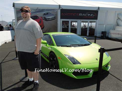 Chris at Exotics Racing Las Vegas