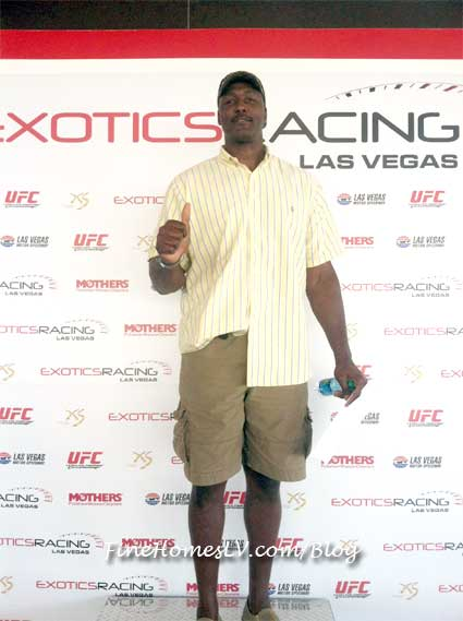 Karl Malone at Exotics Racing
