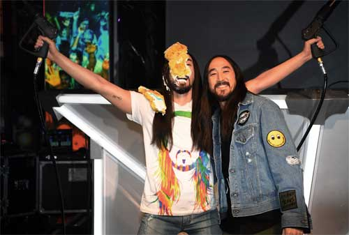 Steve Aoki at Madame Tussauds Las Vegas