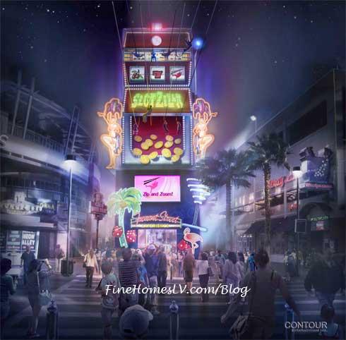 SlotZilla Tower Zipline At Fremont Street Experience Las Vegas