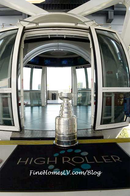 The Stanley Cup on The High Roller Las Vegas