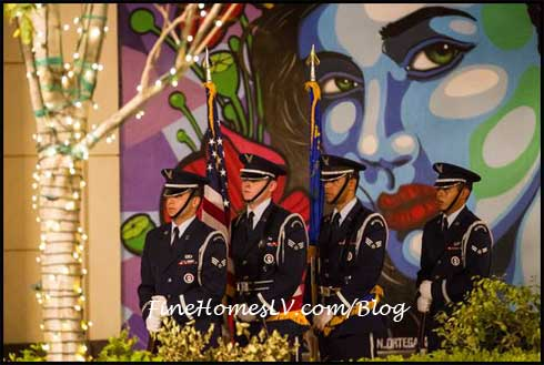 Nellis Honor Guard at The LINQ