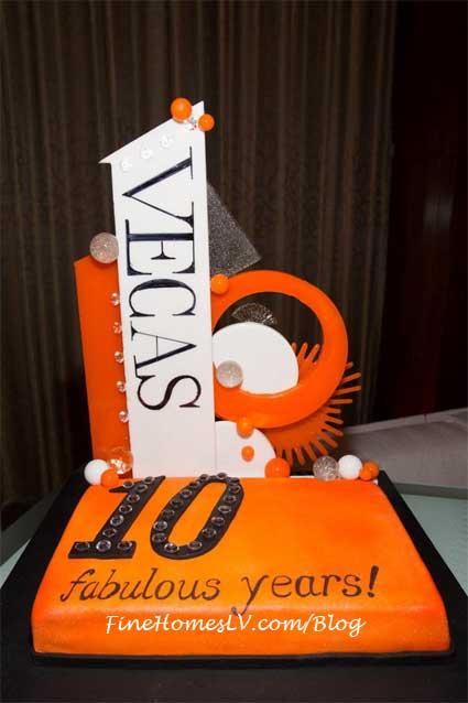 VEGAS Magazine 10 Year Cake
