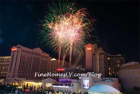Caesars Palace Las Vegas Fireworks