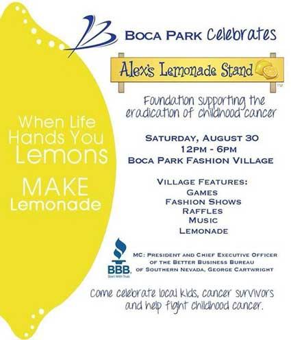 Alexs Lemonade Stand Charity