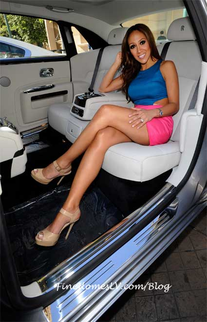 Melissa Gorga With A Rolls Royce Ghost