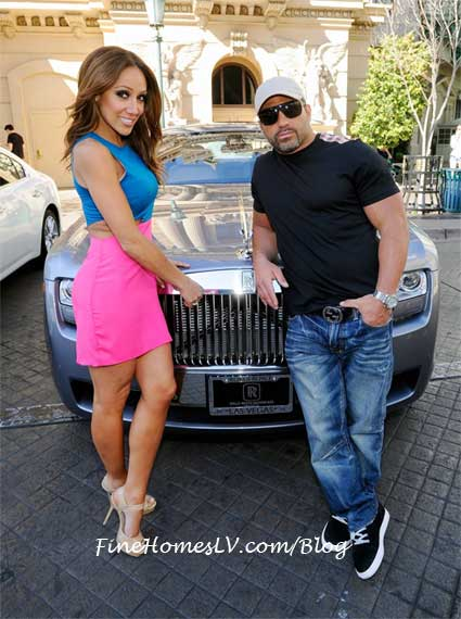 Melissa and Joe Gorga With A Rolls Royce Ghost