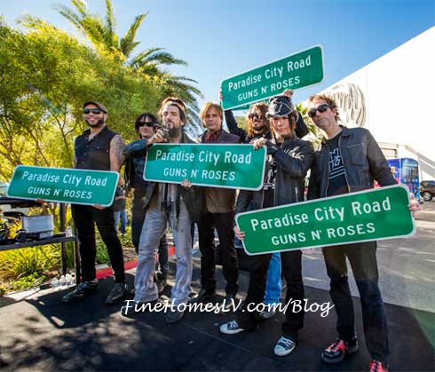 Guns N Roses and Paradise City Signs