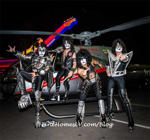 KISS On Maverick Helicopter At Hard Rock
