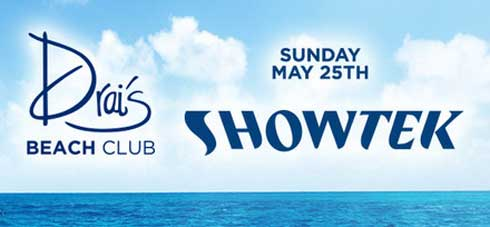 Showtek at Drais Beach Club