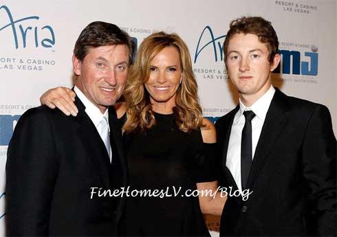 Wayne Gretzky, Janet Gretzky and Trevor Gretzky