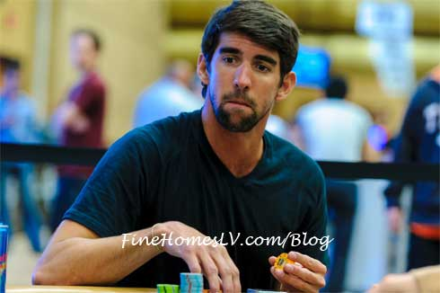 Michael Phelps at the 2013 WSOP