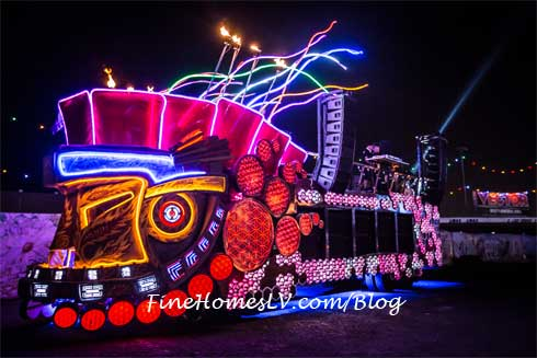 Electric Daisy Carnival Las Vegas Lighted Train
