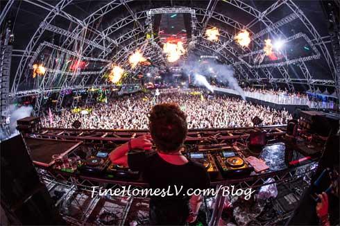 EDC Behind DJ Stage