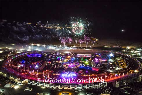 EDC Overhead Fireworks