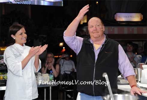 Brooke Worley and Mario Batali