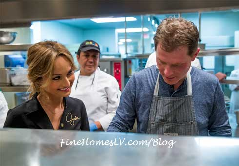 Giada De Laurentiis and Bobby Flay At MESA Grill