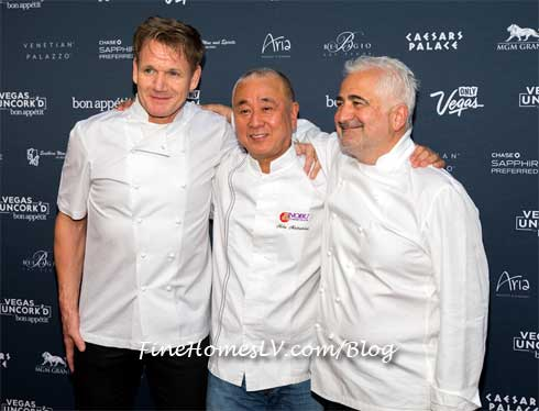 Gordon Ramsay, Nobu Matsuhisa and Guy Savoy