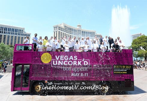 Vegas Uncorkd Champagne Showers At Bellagio