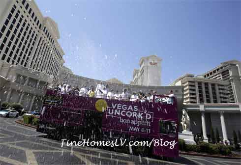 Vegas Uncork'd Champagne Showers At Caesars Palace