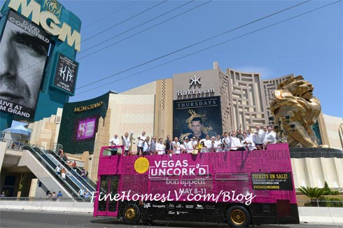 Vegas Uncorkd Champagne Showers At MGM Grand