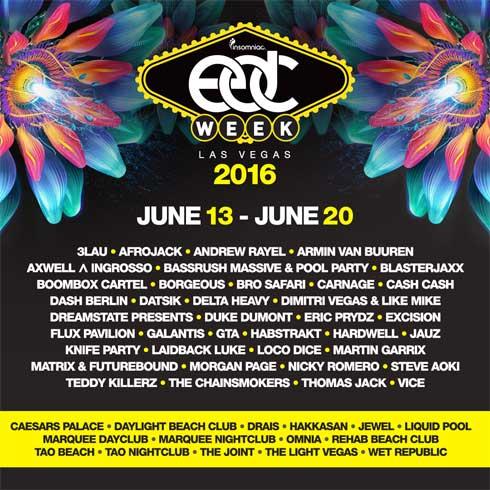 EDC Week 2016 Lineup