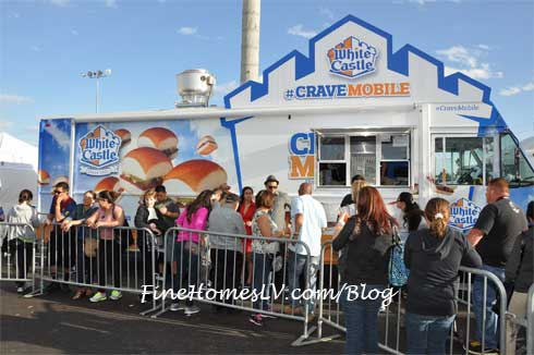 White Castle Crave Mobile Food Truck At The Las Vegas Foodie Fest