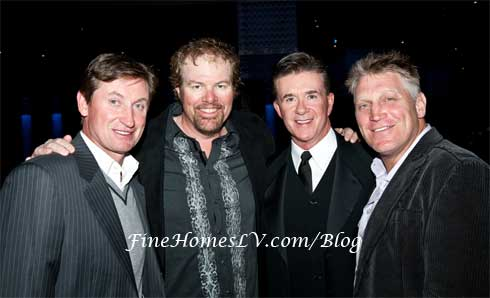 Wayne Gretzky, Toby Keith, Alan Thicke and Brett Hull