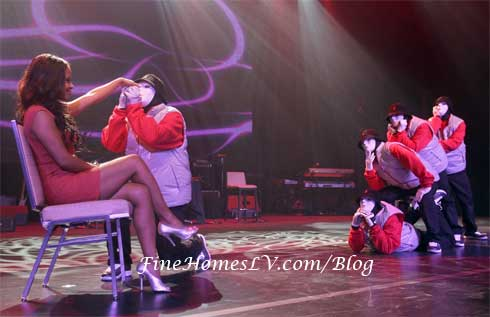Christina Milian and Jabbawockeez