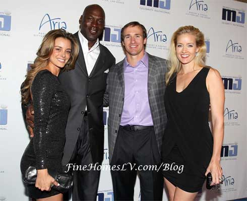 Yvette Prieto, Michael Jordan, Drew Brees and Brittany Brees