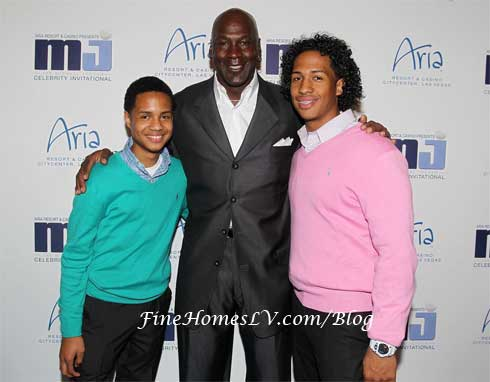 Marc Garcia, Michael Jordan and Reuben Garcia