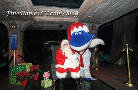 Santa Claus and Santa Jaws