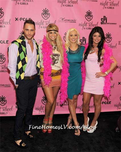 Josh Strickland, Holly Madison, Angel Porrino and Laura Croft